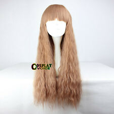 Lolita Heat Resistant Light Brown Long Curly 70CM Daily Women Cosplay Wig Hair