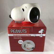 NEW Peanuts Snoopy Head Sculpted Figural Ceramic Coffee Mug Cup 16 0z