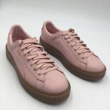Puma Womens Basket Platform Euphoria Gum Sneakers Sliver Pink Rose Gold 9.5 New