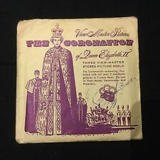 View Master Coronation Of Queen Elizabeth II 3 Reels View-Master QEPX