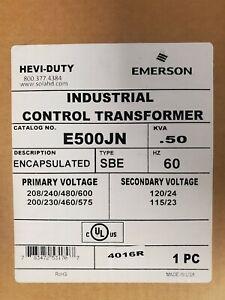 EMERSON / SOLA-HD E500JN CONTROL TRANSFORMER