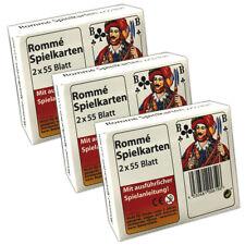 3 Packungen Romme Spielkarten 2x 55 Spielkarten | Canasta Bridge Kartenspiel
