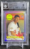 2018 Juan Soto Topps Heritage CHROME PURPLE REFRACTOR ROOKIE Rc #502 BGS 9