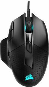 CORSAIR - NIGHTSWORD RGB FPS/MOBA Wired Optical Gaming Mouse - Black - New