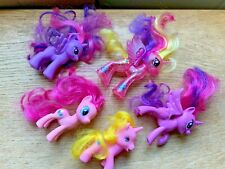 Set 5 My Little Pony type horses/unicorn - all different sizes in good condition