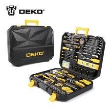 DEKO 168 Pcs Socket Wrench Tool Kit Mechanics Screwdriver Knife Toolbox Handtool