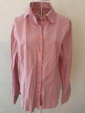 NINA KAY Sz 16 Womens Shirt Pink Pinstripe Button Down Long Sleeve Work Business