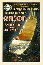 Captain Scott Antarctic Life Vintage Style Silent Movie Poster - 16x24
