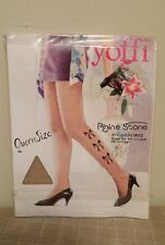 Yoffi Rhine Stone Bows Fashion Panty Hose Nylons Queen Size Style 7003R1Q