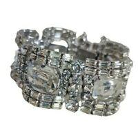 Astounding VTG Unsigned Sherman Bracelet Dimensional Rare Bridal Statement