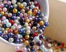 100Pcs 6mm Mixed Color Czech Glass Pearl Spacer Loose Beads DIY Craft