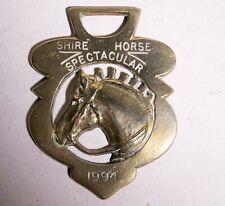 VINTAGE ORIGINAL HORSE HARNESS BRASS SHIRE HORSE SPECTACULAR 1994