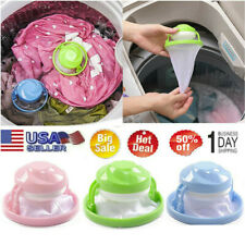 3X Home Floating Lint Hair Catcher Mesh Pouch Washing Machine Laundry Filter Bag