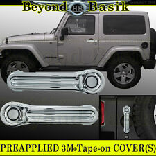 2007-2017 JEEP WRANGLER 2dr JK Chrome Door Handle COVERS+Tailgate trims Overlay