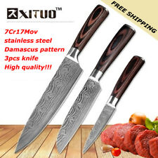 XITUO - Set Of 3 High Quality Japanese Chef knives Damascus Stainless Steel