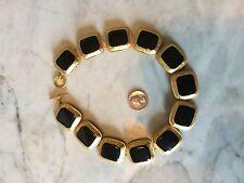 ANNE KLEIN Cleopatra chunky choker enamel gold tone  necklace