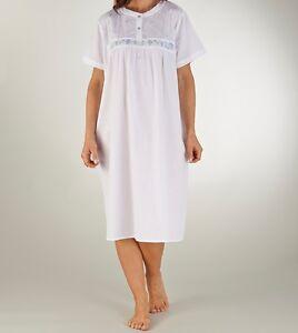 Slenderella Womens Premium Quality 100% Cotton Nightie, Nightdress. Short sleeve