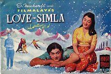 LOVE IN SIMLA (1960) VINTAGE PRESS BOOK  BOLLYWOOD SADHANA, JOY MUKERJI