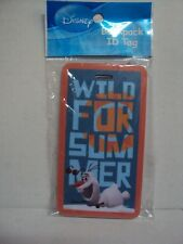 """DISNEY FROZEN """"OLAF BACKPACK LUGGAGE NAME ID TAG (ANNA, ELSA) WILD FOR SUMMER"""
