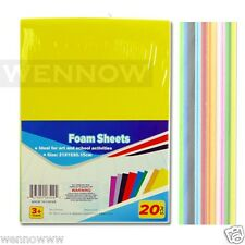10 Color 20 Pcs Craft Foam Sheets For Craft ART 6 X 8 1/2 inch