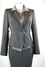 APRIORI Jacket 38 Blazer Grey Black Jacket Polyester Viscose New with Tags