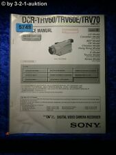 Sony Service Manual DCR TRV60 /TRV60E TRV70 Level 2 Digital Video (#5748)