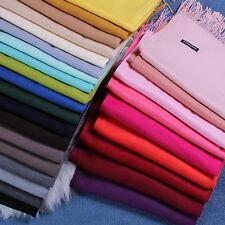 * Women Oversized Cashmere Wool Solid Pashmina Scarf Wraps Warm Blanket Scarves