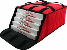 """Pizza Delivery Bags Holds up to Five 16"""" or Four 18"""" Pizzas (Red)."""