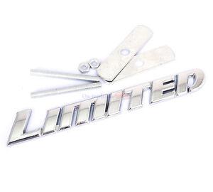 Chrome Metal Limited Hood Front Grille Grill Badge Emblem For Highlander
