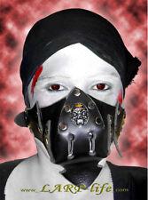 Leder Maske Moloch Gothic Gesichtsschutz SM WGT Fetish LARP Rollenspiel Skull