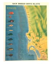 """Scuba Dive Locations and Site Information Slate for San Diego 6.5 x 8.5"""""""