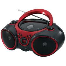 Jensen Cd490 Black/Red Portable Stereo Cd Player Am F