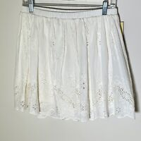 Cherokee Girls Skirt A Line Flare Cotton White Eyelet Bottoms Kids Size XL 14/16