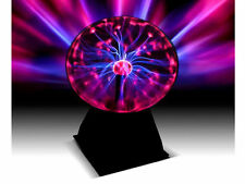UK Disco Party Plasma Globe Ball Light Glowing Table Lamp Sound Touch Activated