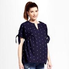 Isabel Maternity by Target Ingrid & Isabel large top navy blue polka dot