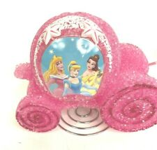 Disney Pink Plastic Popcorn Princess Carriage Coach Lamp Night Light Cinderella
