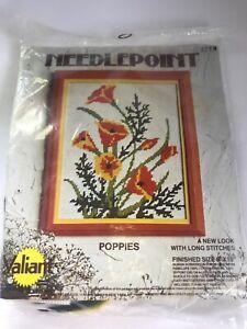 Needlepoint Valiant Poppies 8x10 Long Stitches NEW