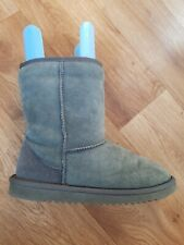 Grey Sheepskin Boots Size Uk 5