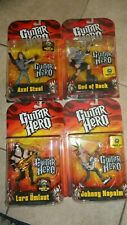 New Lot of 4 Guitar Hero Action Figures By McFarlane Lars Axel Johnny God Rock