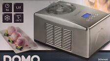 DOMO DO9066I Eismaschine mit Kompressor Eis Maschine Speiseeismaschine 1,5 L NEU