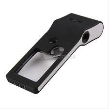 Jewelry 55X Magnifier 3X 10X Pocket Magnifying Glass Eye Loupe Lens LED UV Light