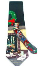 NEW! CHRISTMAS PRESENTS IN STOCKING BY CHIMNEY HOLIDAY NECKTIE TIE SLICE OF LIFE