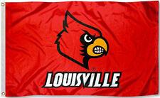 Louisville Cardinals 3' x 5' Flag (Logo w/ Wordmark on Red) NCAA Licensed