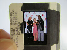 More details for original press photo slide negative - sting, stevie wonder & lulu - 2000
