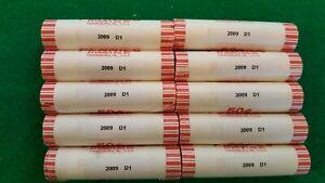 2009-D LP1 LINCOLN PENNY CENT OBW BU ROLLS (10 rolls)