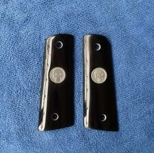 COLT 1911 GRIPS Custom  Full Size Silver Medallions For Kimber Handmade Resin