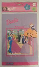 NUOVO Ragazze Barbie Principessa Uniset Magic adesivo riutilizzabile Ultimate giocattolo da viaggio libro