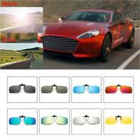 1pcs UV400 Sunglasses Polarized Clip On Flip-up Driving Glasses Night Vision Len