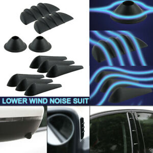 10pcs Universal Car Fairing Body Spoiler Sticker Lowering Wind Noise Reduction