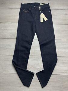 "BNWT DIESEL ""SANDY"" Ladies Regular Slim Straight Stretch Denim Jeans   W27 L32"